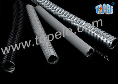 Electrical Galvanized Steel PVC Flexible Conduit And Fittings Grey
