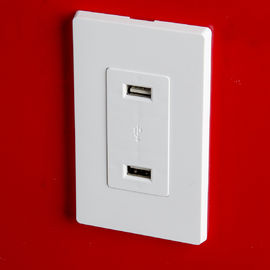 China Mercado de enchufe USB blanco, puertos de USB eléctricos del mercado 4 del Usb con 2 placas de pared proveedor